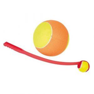 Aportovací hračka pro psy IdealDog házedlo s míčem