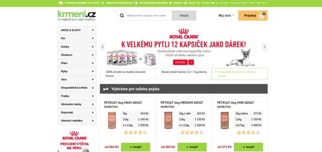 Krmeni.cz e-shop