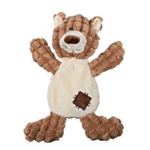 Plyšová hračka pro psy medvěd se záplatami
