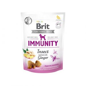 Pamlsky pro psy Brit Functional Snack Immunity Insect/Ginger