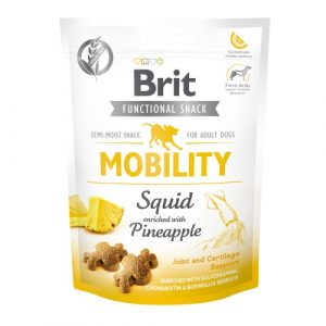 Pamlsky pro psy Brit Functional Snack Mobility Squid/Pineapple