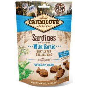 Pamlsky pro psy Carnilove Sardines & Garlic