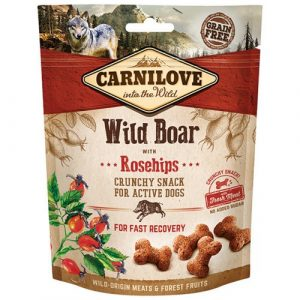 Pamlsky pro psy Carnilove Wild Boar & Rosehips