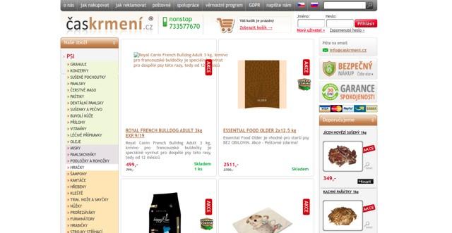 Časkrmení.cz e-shop