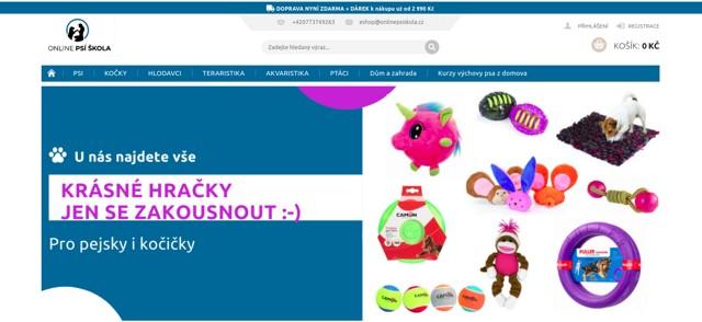 Onlinepsiskola.cz e-shop