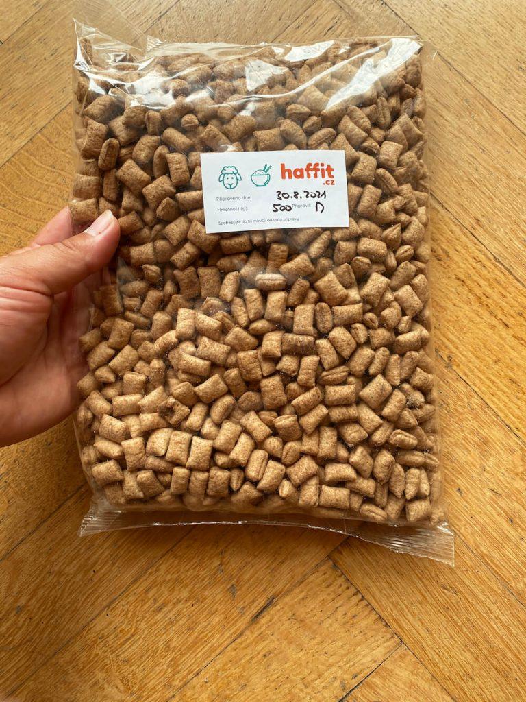 Haffit krmivo recenze: balení Haffit krmiva